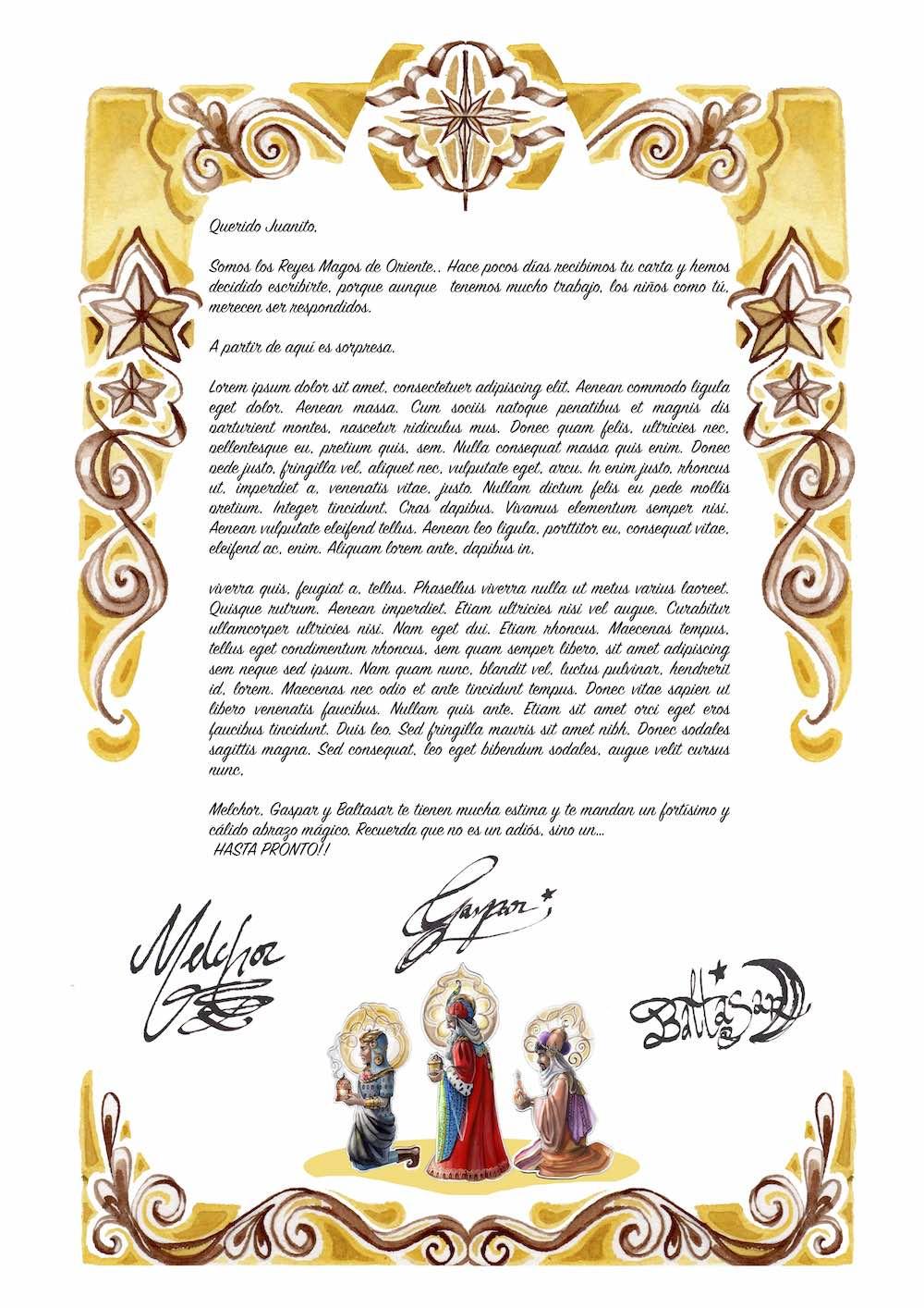 Carta clasica reyes magos