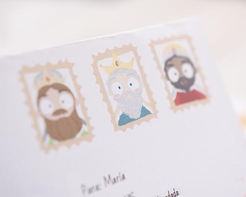 Carta personalizada de oriente de sus queridas majestades los reyes magos