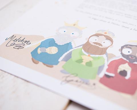Detalle de la carta a los reyes magos de oriente