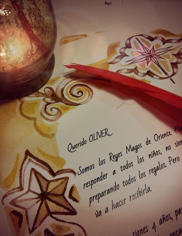 Carta de los Reyes Magos escrita a los niños